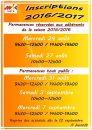 AFFICHE JOURNEES D'INSCRIPTION 2016-2017